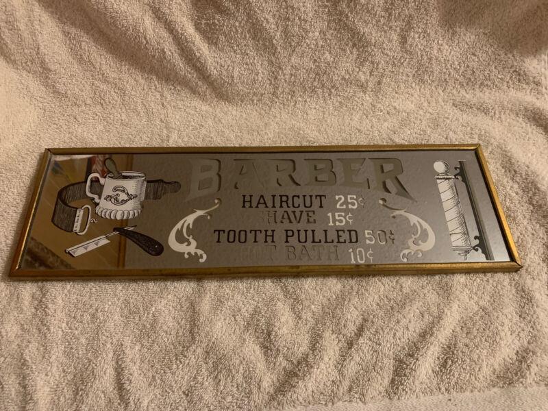 Barber Shop Mirror Advertising Sign