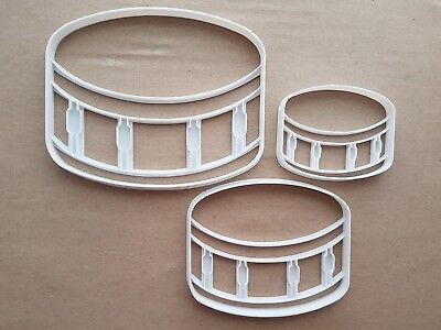 Snare Drum Band Music Shape Cookie Cutter Dough Biscuit Pastry Fondant Sharp ()