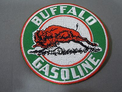 BUFFALO GASOLINE Embroidered Iron On Uniform-Jacket Patch 3""