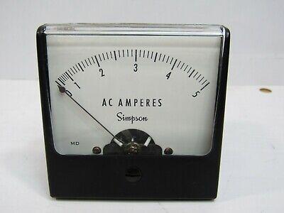 Simpson 0-5 Ac Amp Panel Meter Analog 2 14