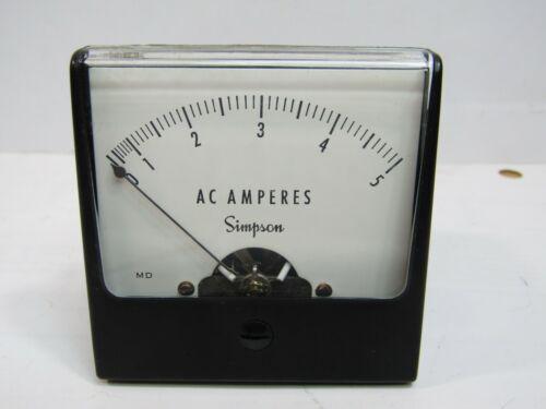 """Simpson 0-5 AC AMP Panel Meter Analog  2 1/4"""""""