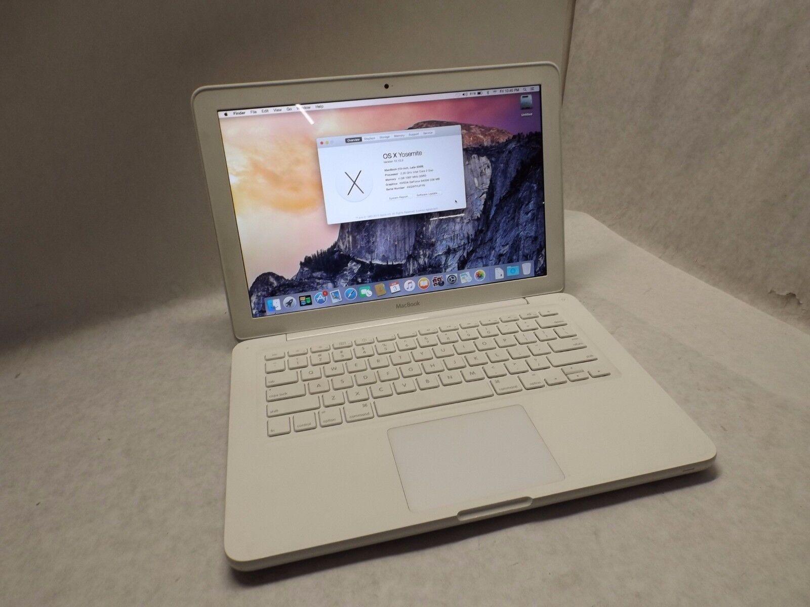 """Macbook - Apple MacBook A1342 UNIBODY 13"""" Laptop / 250GB / 4GB DDR3 - HIGH SIERRA"""