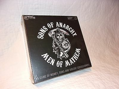 Sons Of Anarchy  Men Of Mayhem Board Game New   Factory Sealed