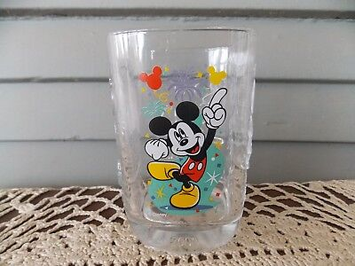 Vintage McDonald's 2000 Disney World Magic Kingdom Square Glass Tumbler Mickey