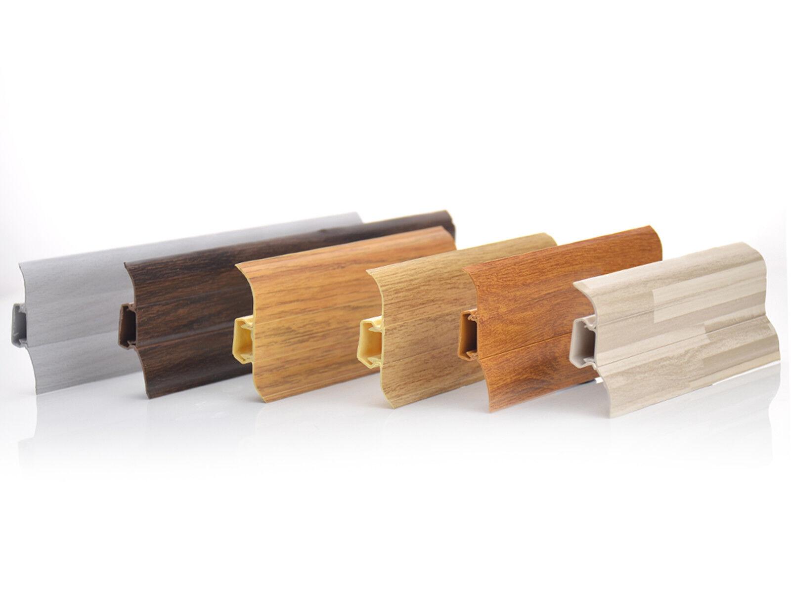 Sockelleiste weiß Echtholz   Modern Fußleiste 80mm  