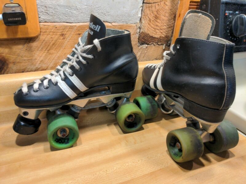 Vintage Riedell USA Roller Derby Speed Skates Sz 7 Zinger Wheels invader