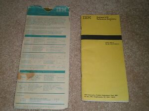 IBM System/370 Reference Summary GX20-1850-6 & Flowchart Template with sleeve