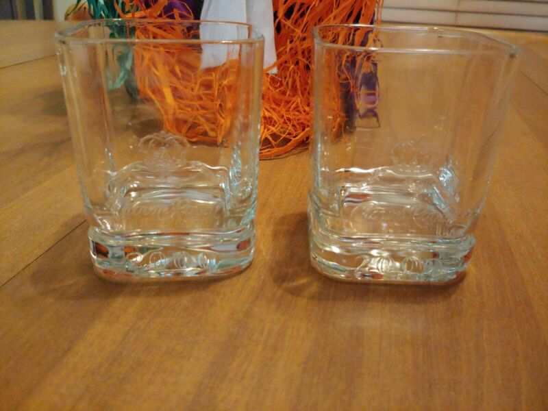 Crown Royal 2000 Cocktail Drinking Glasses Embossed (Set of 2)