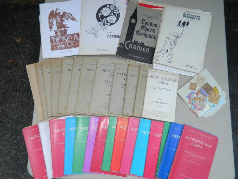Opera Memorabilia Collection  (60+ years)