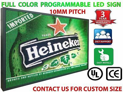 Indoor Window Led Signs 12 X 25 Full Color Still Scroll Digital Neon Open Text