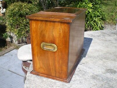 Antique Walnut/Mahogany pipe/chemists cabinet