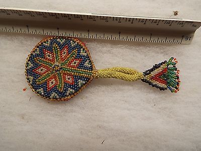 OLD NATIVE AMERICAN INDIAN  BEADED PIECE  NICE