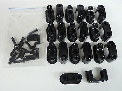 10 St. Bakelitschellen Aufputzschellen Kabelschellen Neu DDR 8-18 mm + Schrauben