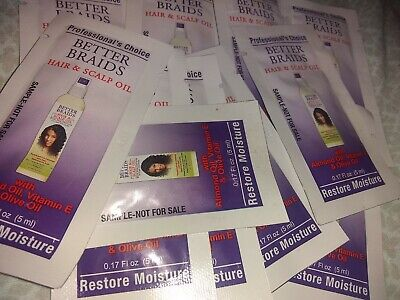 Lot Of 11 Individual Use Better Braids Hair & Scalp Oil with almond & olive