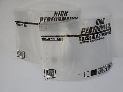 Face Shield Window - 2 Fibre-Metal High Performance Face Shield Window Standard Propionate Clear 4118