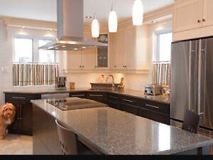 Comptoir granite,marbre, sur mesure a partir de 35$ pi.ca