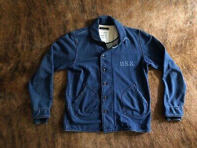 Vintage WW2 Impression Navy Blue N-1 Deck Jacket US - Large L