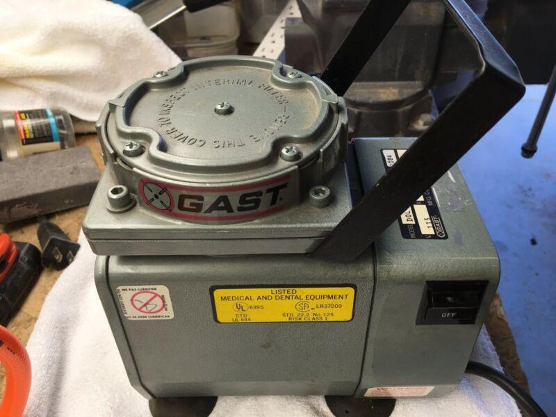 GAST personal Medical Aspirator Pump with muffler -- used
