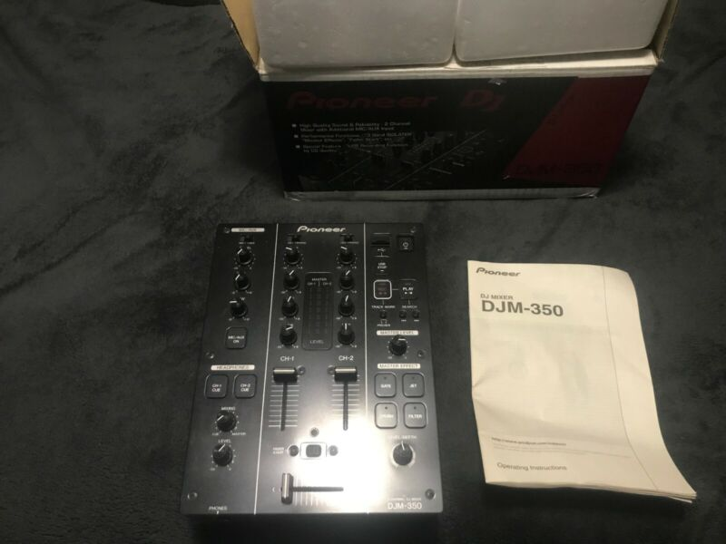 PIONEER DJM 350 MIXER 2 CHANNEL DIRECT USB RECORDING AND EFFECTS