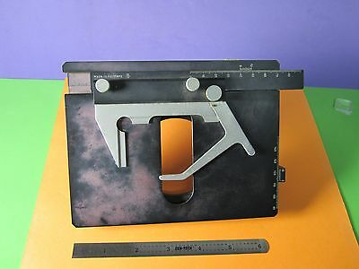 Microscope Part Dialux Leitz Germany Stage Slide Micrometer As Pictured Bn36