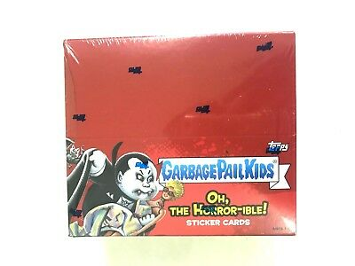 2018 TOPPS GARBAGE PAIL KIDS Series 2 OH, THE HORROR-IBLE STICKER CARD BOX
