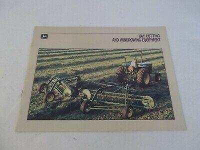 John Deere Hay Cutting And Windrowing Equipment Brochure