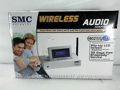 - SMC WIRELESS AUDIO ADAPTER 802.11G 54 MBPS NETWORKING HOME ENTERNAINMENT LCD