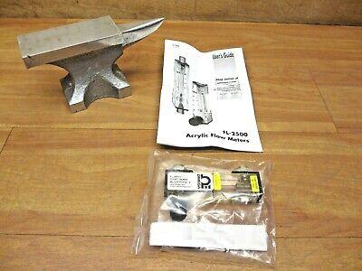 Omega Fl-2501-v New Flow Meter Direct Read Acrylic Rotameter Kit Brass Fitting