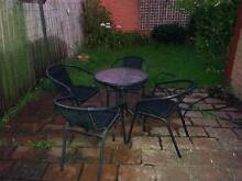 OUTDOOR GLASS TABLE & CHAIRS SETTING - GARDEN OR OUTDOOR Hughesdale Monash Area Preview