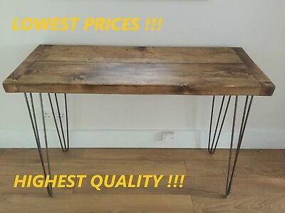 RUSTIC WOOD RECLAIMED PC COMPUTER DESK OFFICE HOME BESPOKE TABLE INDUSTRIAL
