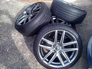 GENUINE LEXUS 18in IS250/IS350 F-SPORT STAGGERED WHEELS & TYRES! Sydney City Inner Sydney Preview