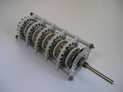 Centralab Rotary Switch Jv-9019 15-pole 2-5 Pos Non-shorting Nos