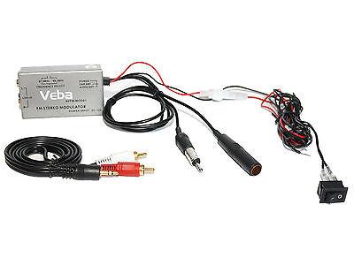 Wired FM Modulator transmitter Veba AVFM-MOD01 iPod iPhone MP3 Samsung HTC AUX