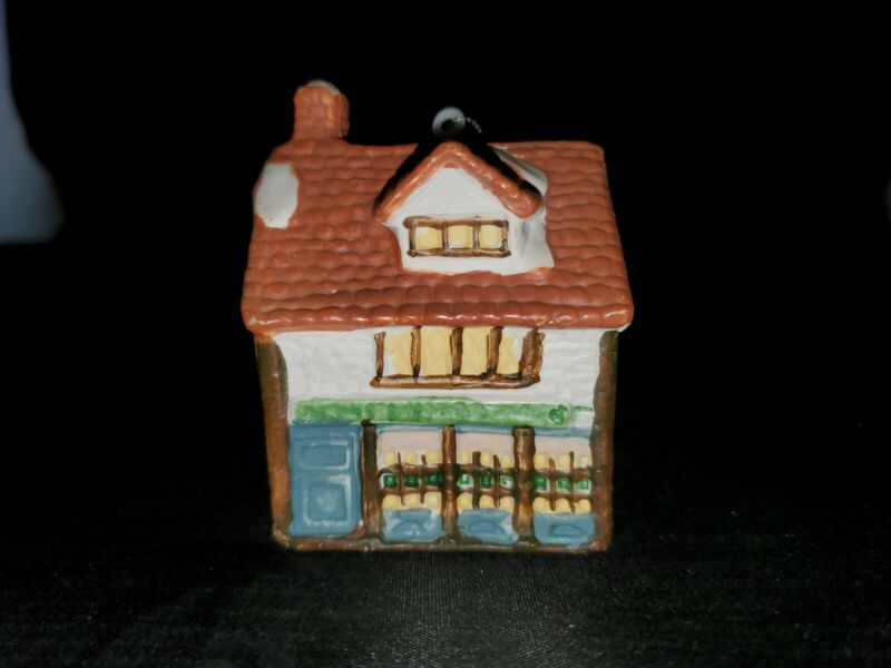 Vintage Cottage House Christmas Ornament