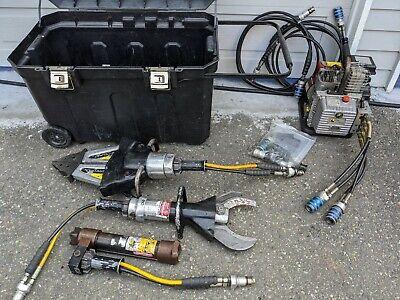 Hurst Jaws Of Life Briggs Hydraulic Pump Generator Cutter Spreader Extrication