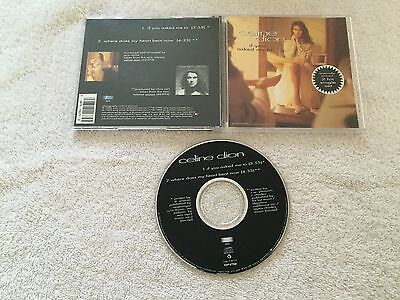 Celine Dion   If You Asked Me To Where Does My Heart Beat Now Rare Usa 2 Trk Cd
