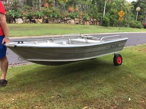 Clark 2.5M (8ft) tinny / car topper ($850 without wheels)