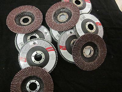 25pc Aluminum Oxide 36 Grit 4-12 Sanding Grinding Wheel Flap Disc 78 Arbor