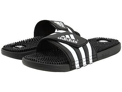 Men's Adidas Adissage Black Slides Shower Sandals Athletic Sport 078260 Sz 7-15
