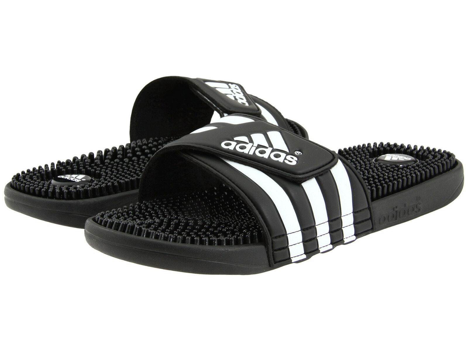 Купить adidas - Mens Adidas Adissage Black Slides Shower Sandals Athletic Sport 078260 Size 6-15