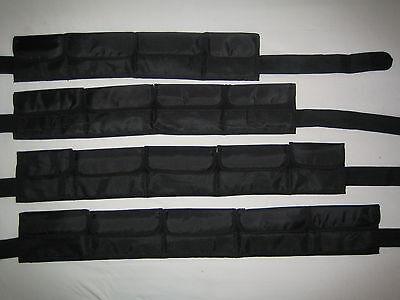 !!! TOP ANGEBOT !!! schwarzer Taschenbleigurt Gr. M - Bleigurt mit PVC Schnalle