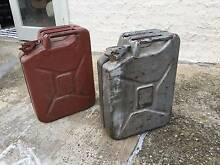 Antique 1950s Fuel Cans. Southport Gold Coast City Preview