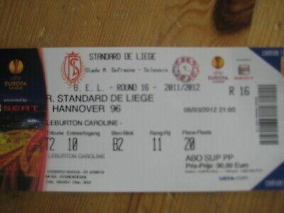 Ticket: Standard - Hanovre (Hannover) UEFA EL (8-3-12)