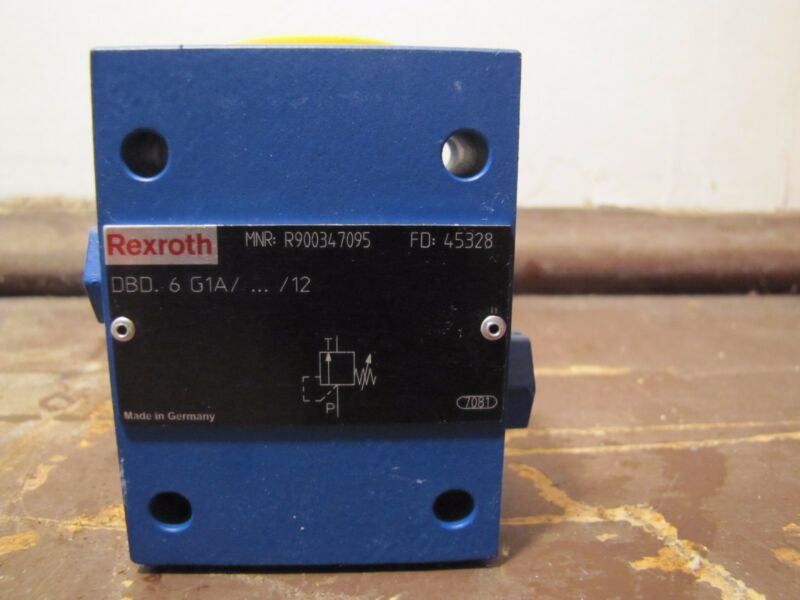NEW Bosch Rexroth DBD 6 G1X/12 Direct Operated Pressure Relief Valve, R900347095