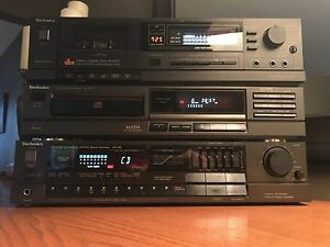 TECHNICS SA-160 RECEIVER SL-P170 Cd player RS-B207 DBX Tape Deck