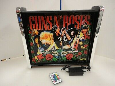 Guns & Roses Data East Pinball LED Backglass Display light box
