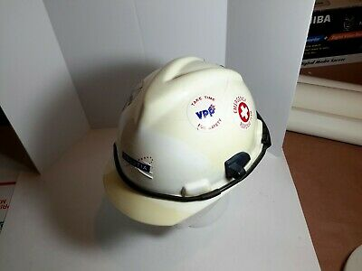 1980s V-gard Incident Commander Msa Sei Hard Hat White Plastic Ansi Z89.1