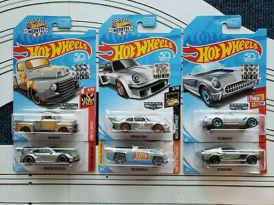 (6) Zamac Hot Wheels - from 2018 factory sealed set