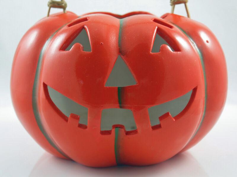 Vintage Halloween Midwest  Jack O Lantern Pumpkin JOL Candle Holder 1984