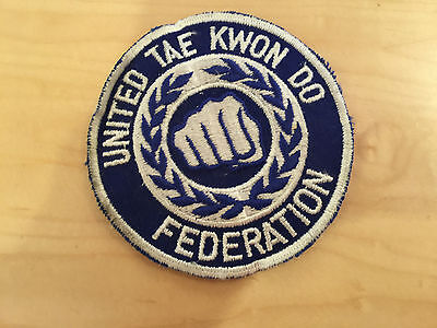 united tae kwon do federation patch,  new old stock 70's
